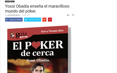 El GuíaBurros: Poker, libro recomendado por el medio especializado Casa de Letras